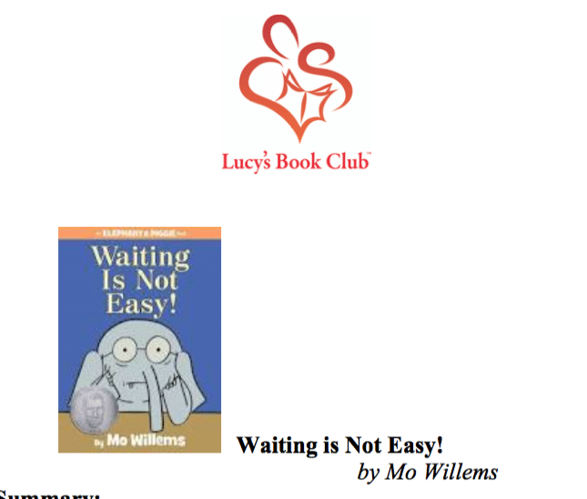 Waiting is Not Easy by Mo Willems